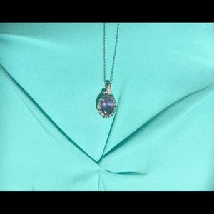 Amethyst with Diamond Accent Necklace